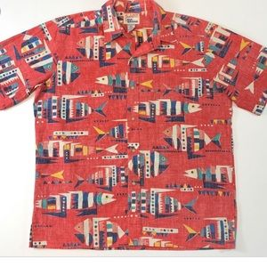 Alfred shaheen Reyn spooner fish shirt sz XL